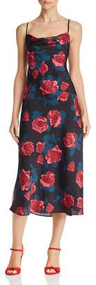 Paige Giovanna Floral Satin Dress
