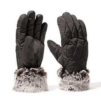 accsa Women Winter Ski Glove Waterproof 3M Thinsulate Warm Windproof Grey M