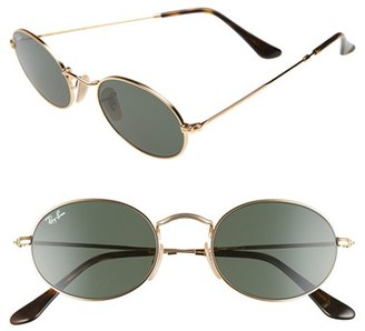 Women's Ray-Ban Icons 51Mm Sunglasses - Gold/ Green $150 thestylecure.com