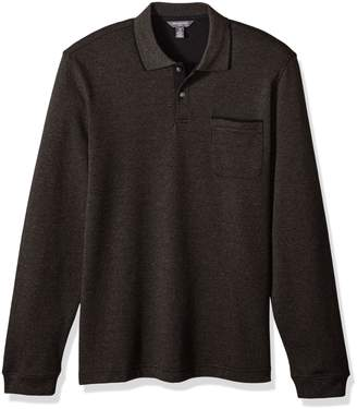 Van Heusen Men's Flex Jaspe Solid Long Sleeve Polo