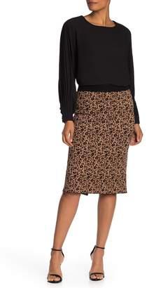 T Tahari Ribbed Knit Midi Sweater Pencil Skirt