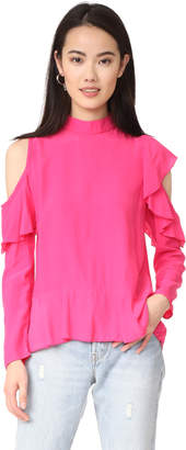MLM LABEL Dylann Ruffle Top $165 thestylecure.com
