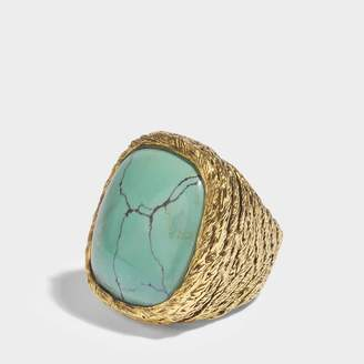 Aurelie Bidermann Miki turquoise ring