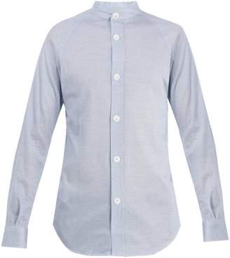Giorgio Armani Grandad-collar jacquard cotton shirt