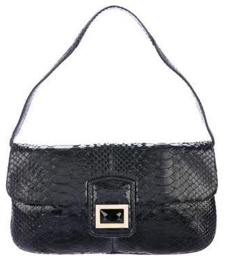 Kara Ross Python Flap Shoulder Bag