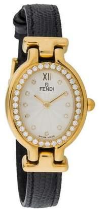 Fendi The Prisma Watch w/ Lizard Strap