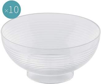 clear Gold Plast Plastic Dessert Bowl, Small (Set of 10),