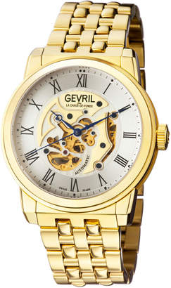 Gevril Men's Automatic Vanderbilt Gold tone Stainless steel Bracelet Watch
