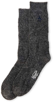 Original Penguin Logan Textured Knit Crew Socks