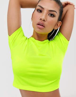 Asos 4505 4505 short sleeve top in neon