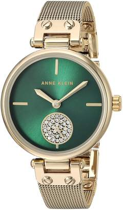 Anne Klein Women's Quartz Metal and Stainless Steel Dress Watch, Color Gold-Toned (Model: AK/3000GNGB)