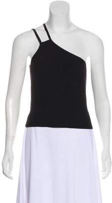 Halston Asymmetrical Sleeveless Top