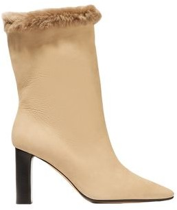 The Row Emil Shearling-trimmed Suede Boots