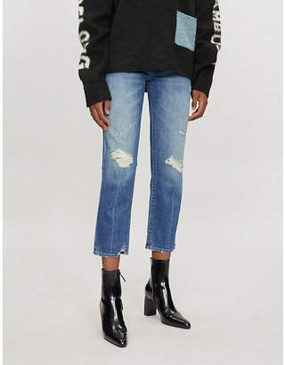 Mother The XYZ Saint straight mid-rise jeans