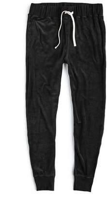 Todd Snyder Velour Slim Sweatpant in Black