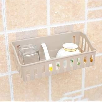 Mosunx Bathroom Storage Cup Holder Shelf Shower Caddy Tool Organizer Rack Basket Sucker