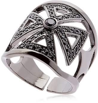 Federica Tosi Faith Crystal & Brass Ring