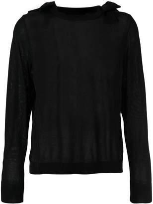 Simone Rocha bow shoulder detail sweater
