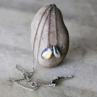 all things Brighton beautiful Silver And Labradorite Necklace