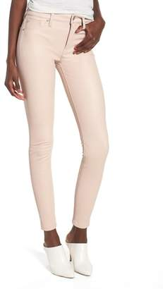 Hudson Barbara High Waist Ankle Skinny Leather Jeans