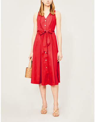 Ted Baker Button-front flared stretch-cotton dress