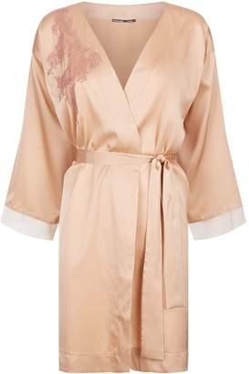 Lejaby Lace Detail Satin Robe
