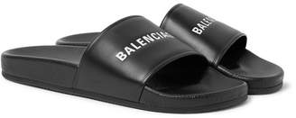 Balenciaga Printed Leather Slides