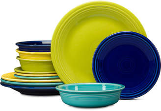 Fiesta 12-Pc. Classic Cool Colors Dinnerware Set, Service for 4