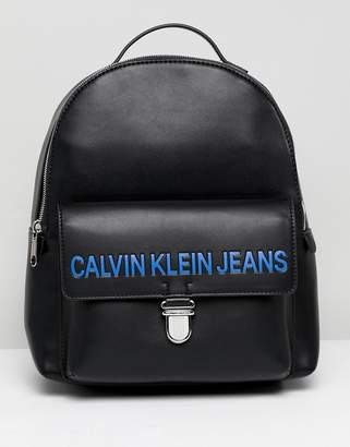 Calvin Klein Jeans Sculpted Backpack with Logo