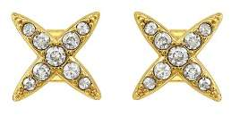 Adore Pave Four Point Star Earrings