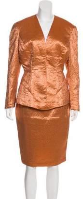 Thierry Mugler Jacquard Skirt Suit