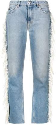 IRO fringed detail jeans