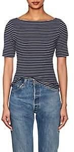 Lilla P Women's Striped Cotton-Blend Top