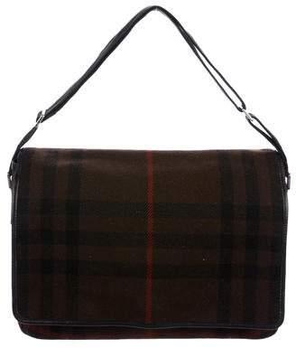 Burberry Canvas Flap Messenger Bag