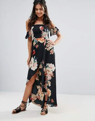 Band of Gypsies Off Shoulder Floral Festival Maxi Dress