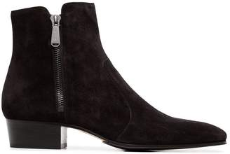 Balmain black 40 suede ankle boots