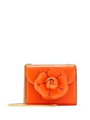 Oscar de la Renta Paprika Leather Mini TRO Bag