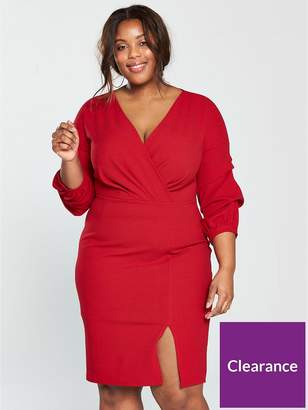 Plus Size Bodycon Dress Red Shopstyle Uk