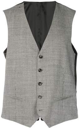 Tonello houndstooth pattern waistcoat