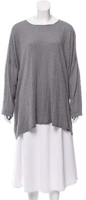 eskandar Long Sleeve Silk Tunic