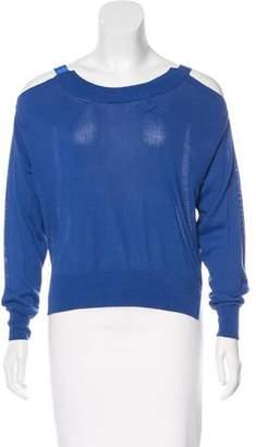 Maison Margiela Cutout-Accented Crew Neck Sweater