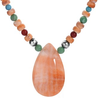 American West Sterling Multi-Gemstone Bead Necklace