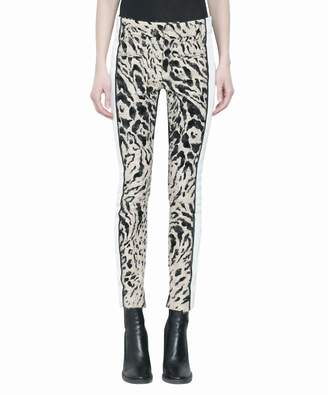 Haider Ackermann Animalier Panelled Leather Pants