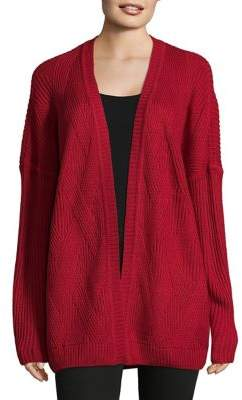 Jones New York Long Raglan Sleeve Cardigan