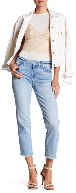 7 For All Mankind7 For All Mankind Frayed Ankle Straight Jean
