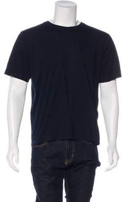 Burberry Woven Crew Neck T-Shirt