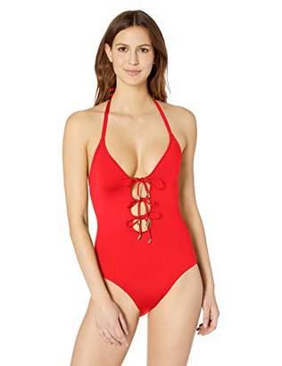 La Blanca Women's Island Goddess Triple Tie Front One Piece Swimsuit