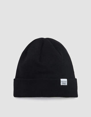 Norse Projects Norse Top Beanie in Black
