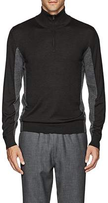 Luciano Barbera Men's Wool-Blend Half-Zip Sweater
