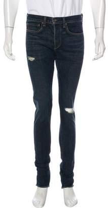 Rag & Bone Skinny Distressed Denim Jeans